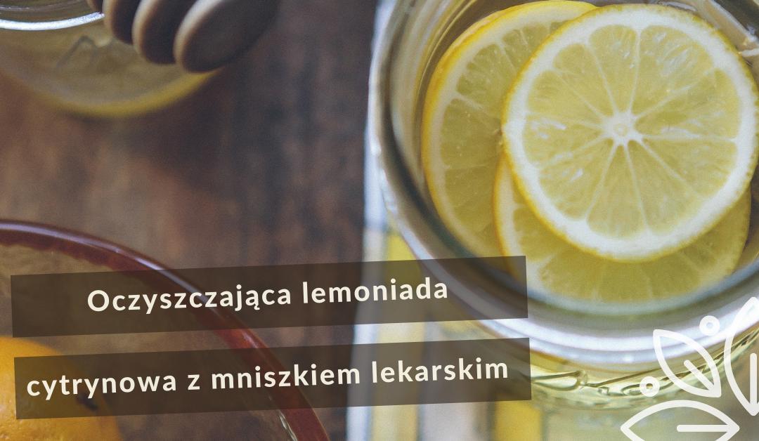 Oczyszczająca lemoniada cytrynowa z mniszkiem